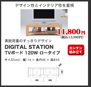 DIGITAL STATION TVボード 120W ロータイプ